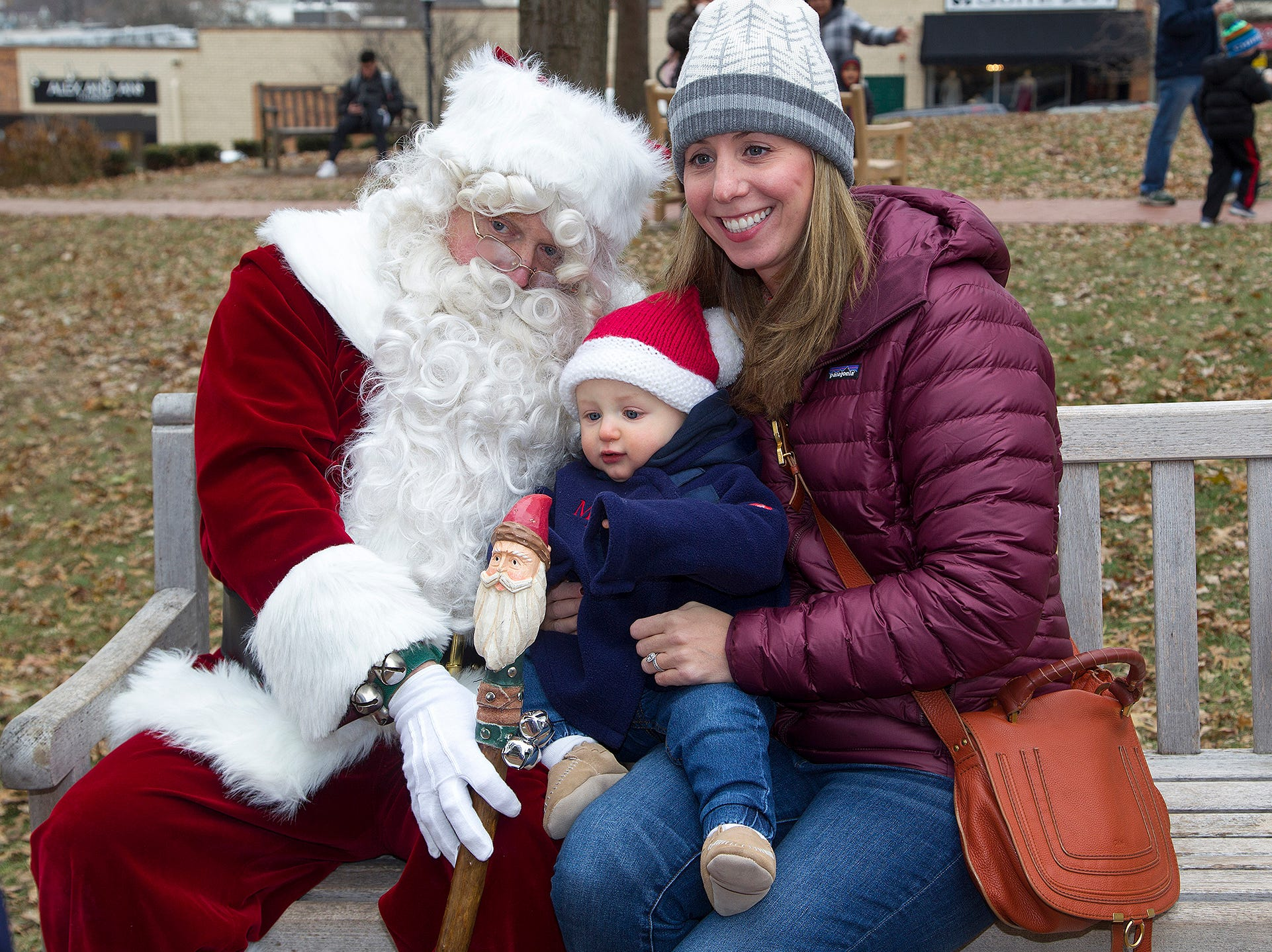 Santa , Kevin, Emily. The Ridgewood Guild sponsors Winter Fest at Van Neste Park in Ridgewood. 11/24/2018
