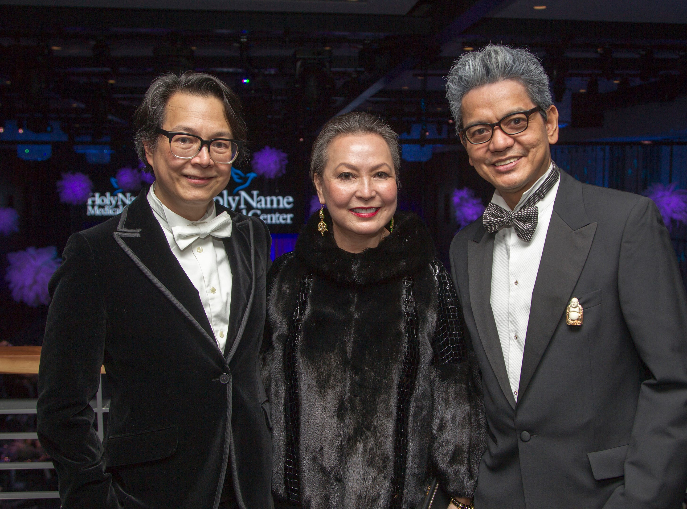 Greg Urra, Angelica Berrie, OJ Hofer. Holy Name Medical Center held its 2018 Founders Ball in NYC at Ziegfeld Ballroom. 11/17/2018