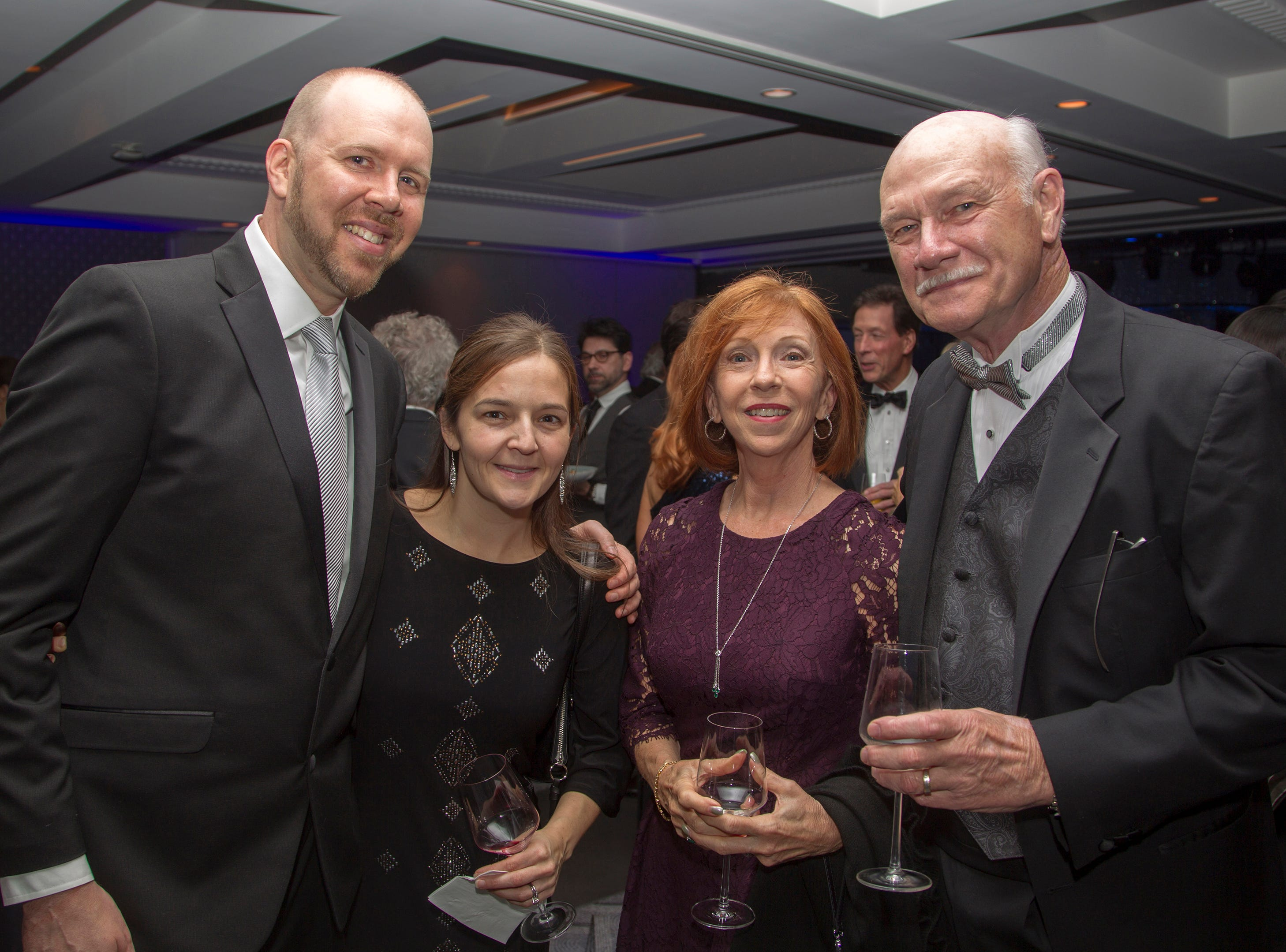 Brian and Melissa Cahill, Lorraine and Jack Cahill. Holy Name Medical Center held its 2018 Founders Ball in NYC at Ziegfeld Ballroom. 11/17/2018