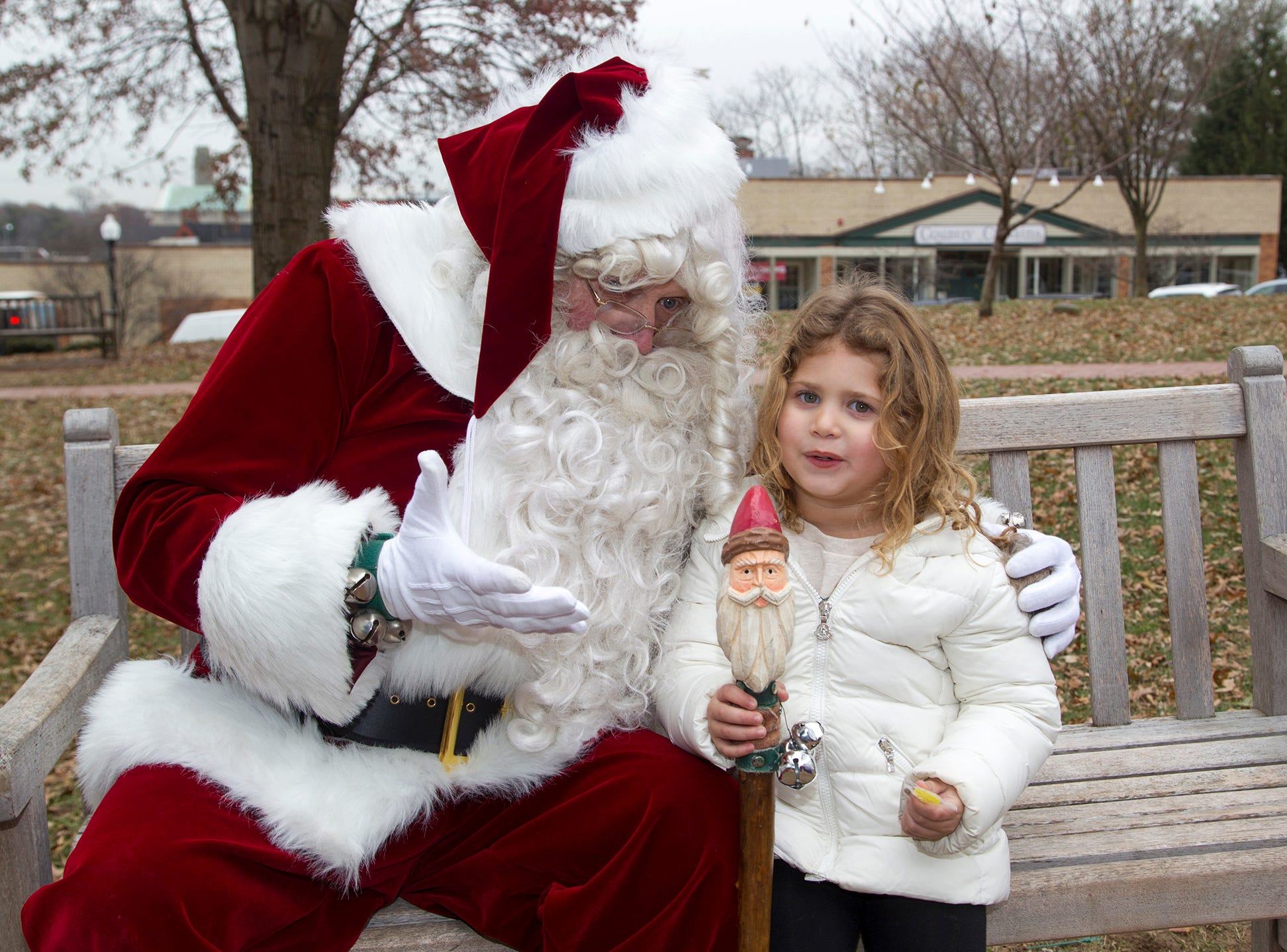 Olivia and Santa. The Ridgewood Guild sponsors Winter Fest at Van Neste Park in Ridgewood. 11/24/2018