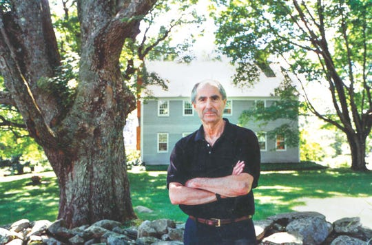 Philip Roth at his Connecticut home