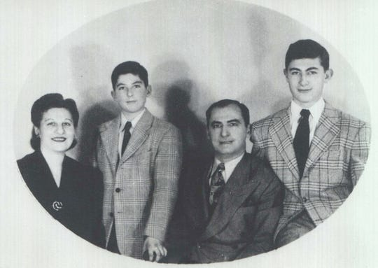 Philip Roth (second from left) with his family in 1943.