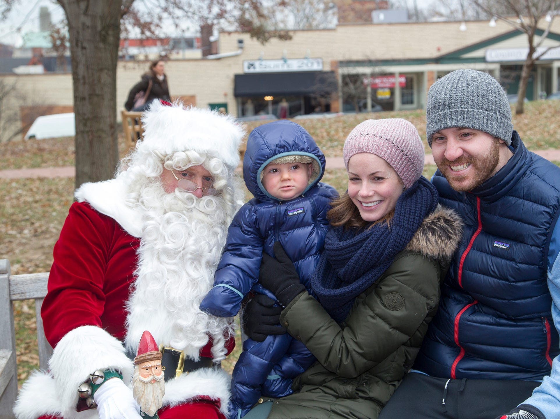 The DeSantis Family with Santa. The Ridgewood Guild sponsors Winter Fest at Van Neste Park in Ridgewood. 11/24/2018