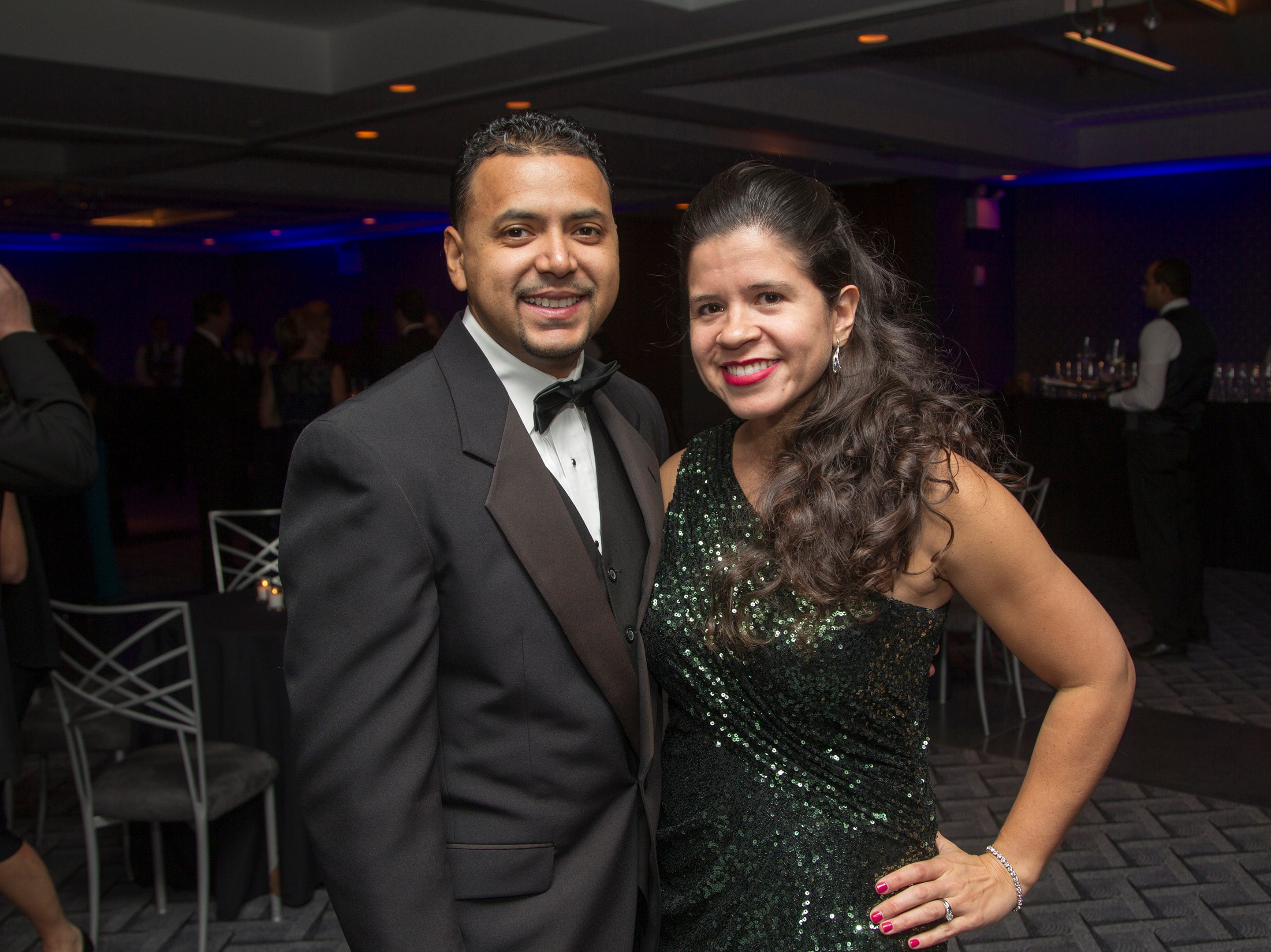 Jason and Michelle Diaz. Holy Name Medical Center held its 2018 Founders Ball in NYC at Ziegfeld Ballroom. 11/17/2018