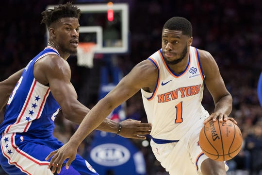 New York Knicks point guard Emmanuel Mudiay is averaging 11.7 points this season.