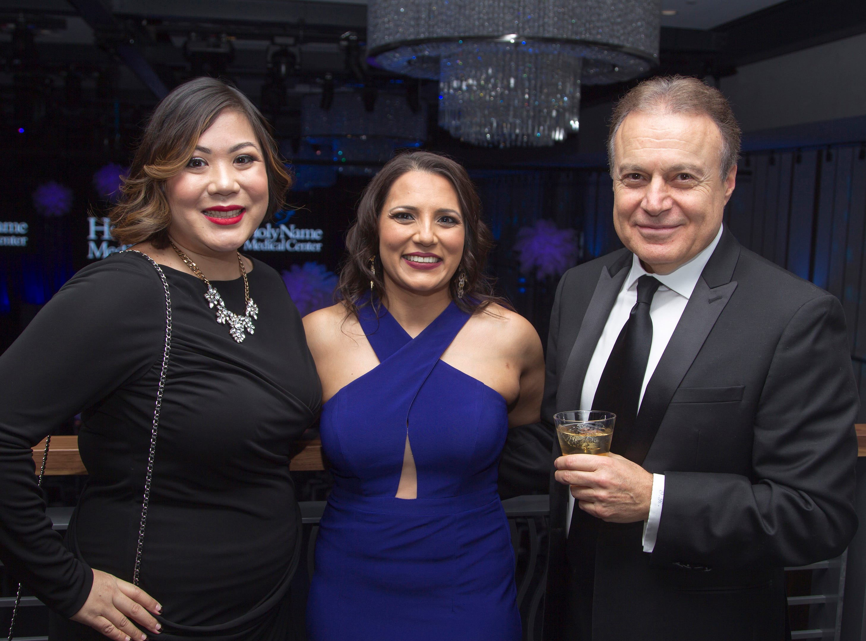 Dr. Nicole Palomar, Dr. Payal Shah, Dr. Ohan Karatoprak. Holy Name Medical Center held its 2018 Founders Ball in NYC at Ziegfeld Ballroom. 11/17/2018