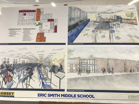 Changes to Eric Smith Middle School were outlined at the referendum fair.
