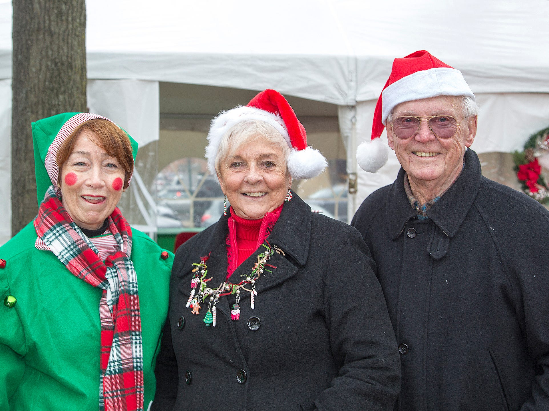 Jess Guliani with Pat and Tom Hanly. The Ridgewood Guild sponsors Winter Fest at Van Neste Park in Ridgewood. 11/24/2018