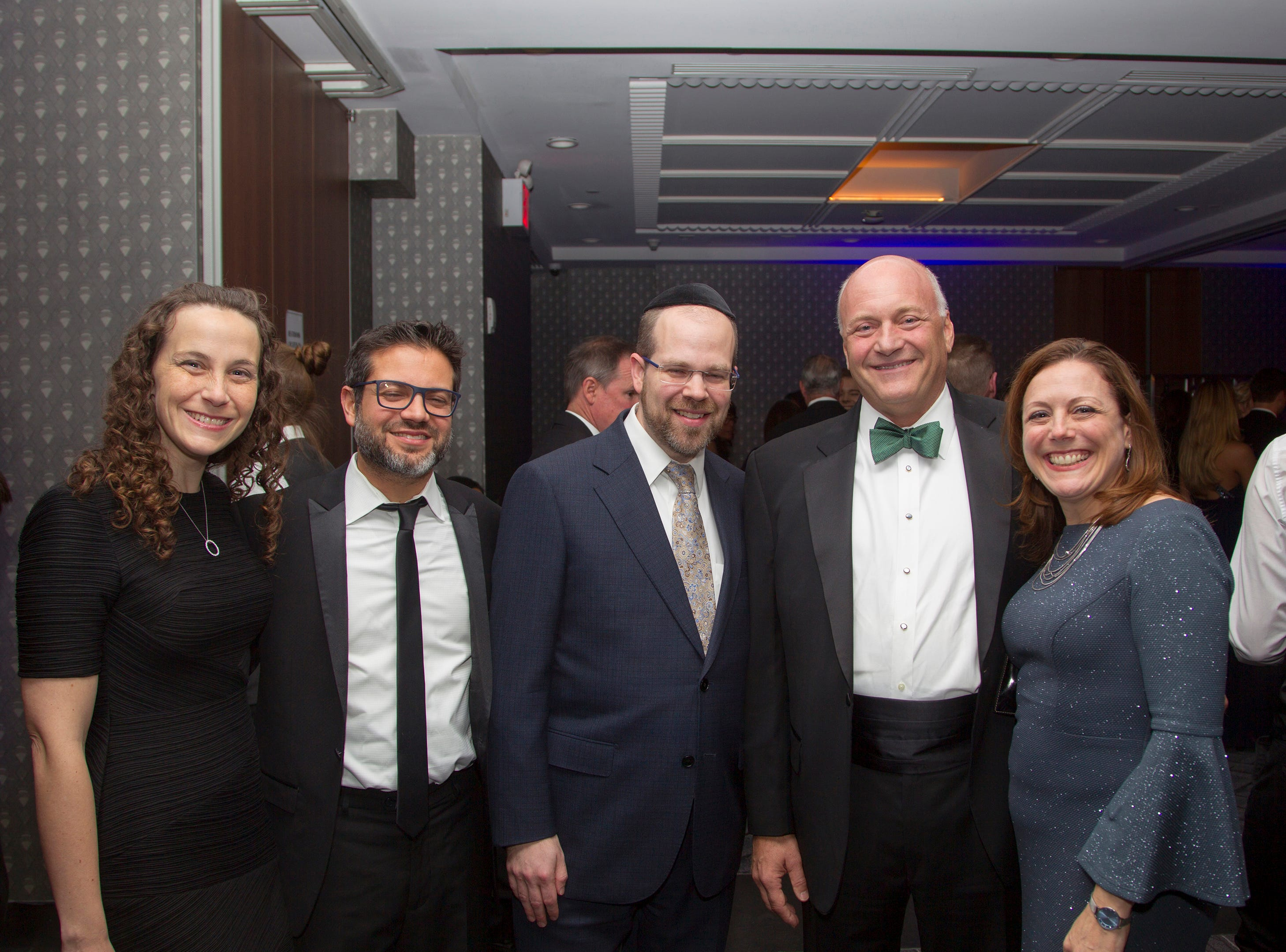 Arielle and Yoni Saposh, Yisrael Rothwachs, Michael Maron, Abigail Hepner Gross. Holy Name Medical Center held its 2018 Founders Ball in NYC at Ziegfeld Ballroom. 11/17/2018
