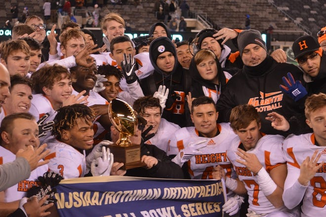 Hasbrouck Heights celebrating winning the first North Group 1 championship.