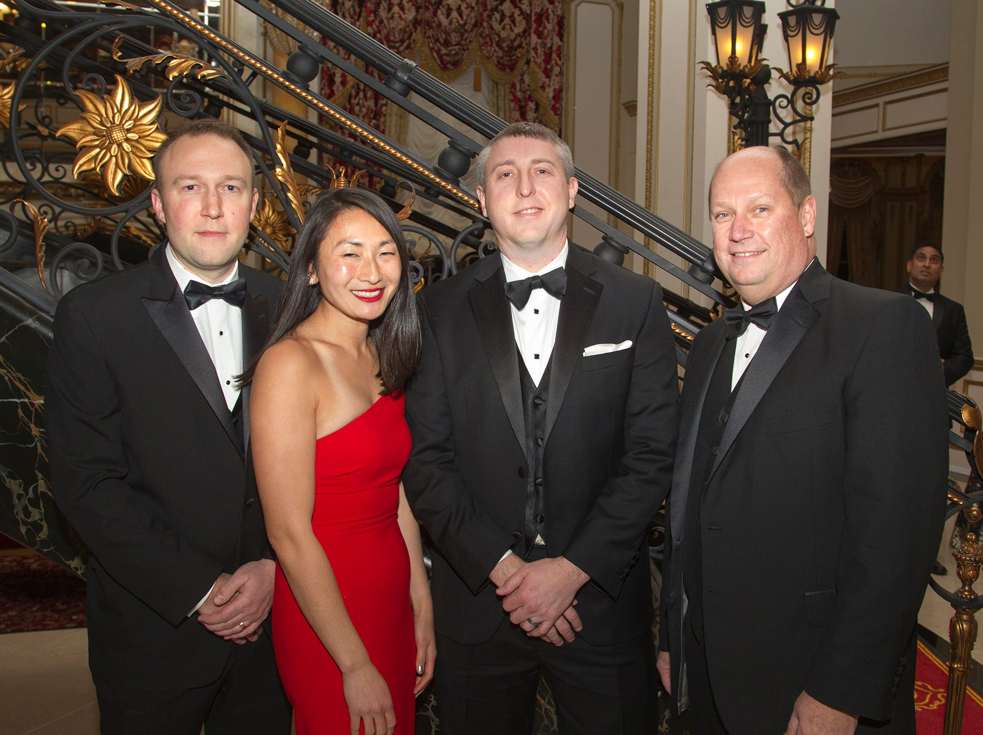 Jeremy Powell, Jessica Miller, Nick Votaw, Jamie Newton. The 72nd Annual Valley Ball gala at The Legacy Castle in Pompton Plains. 11/16/2018