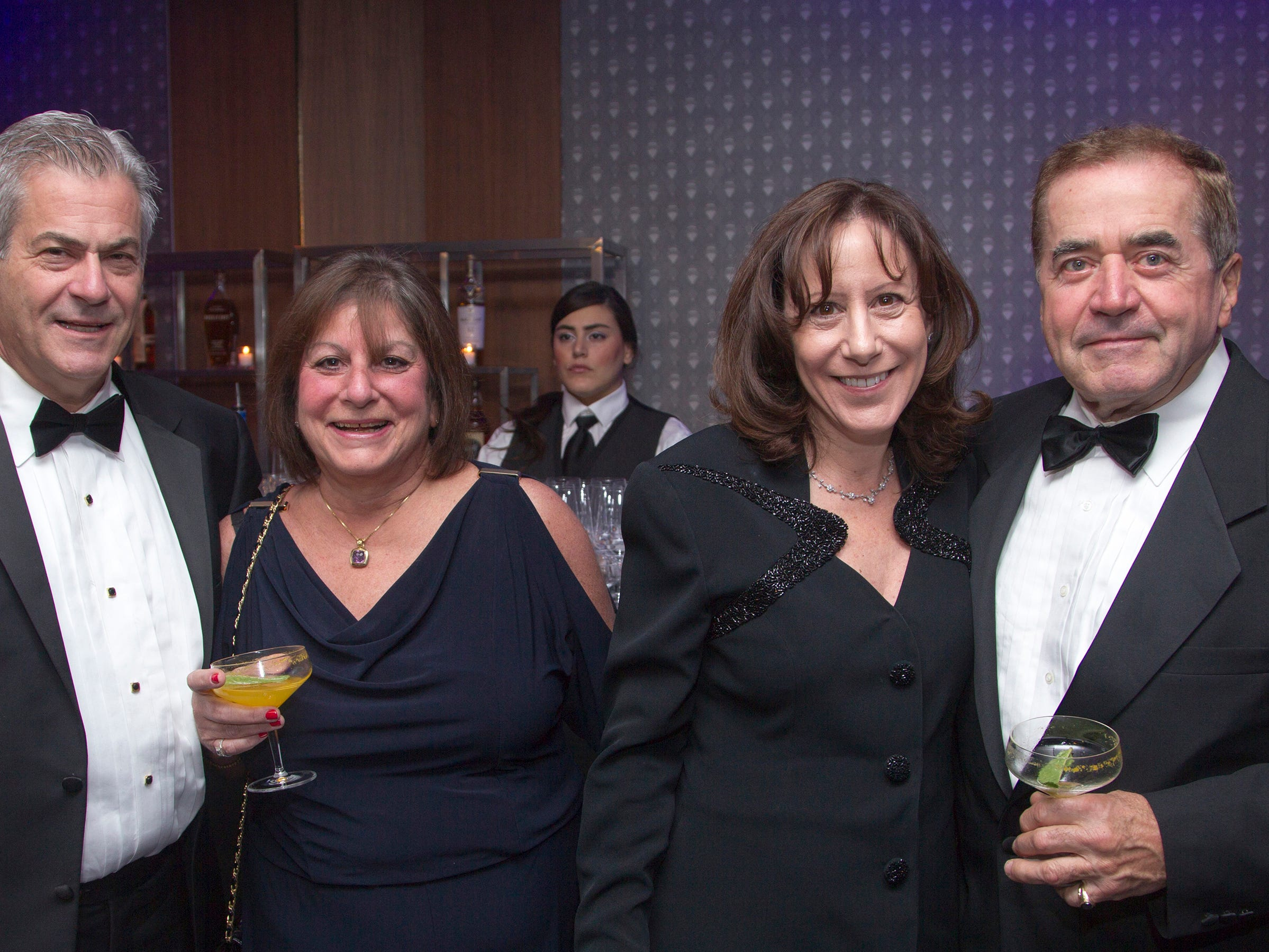 Jeff Chinman, Barbara Dooly, Linda Chinman, Daniel Dooly. Holy Name Medical Center held its 2018 Founders Ball in NYC at Ziegfeld Ballroom. 11/17/2018