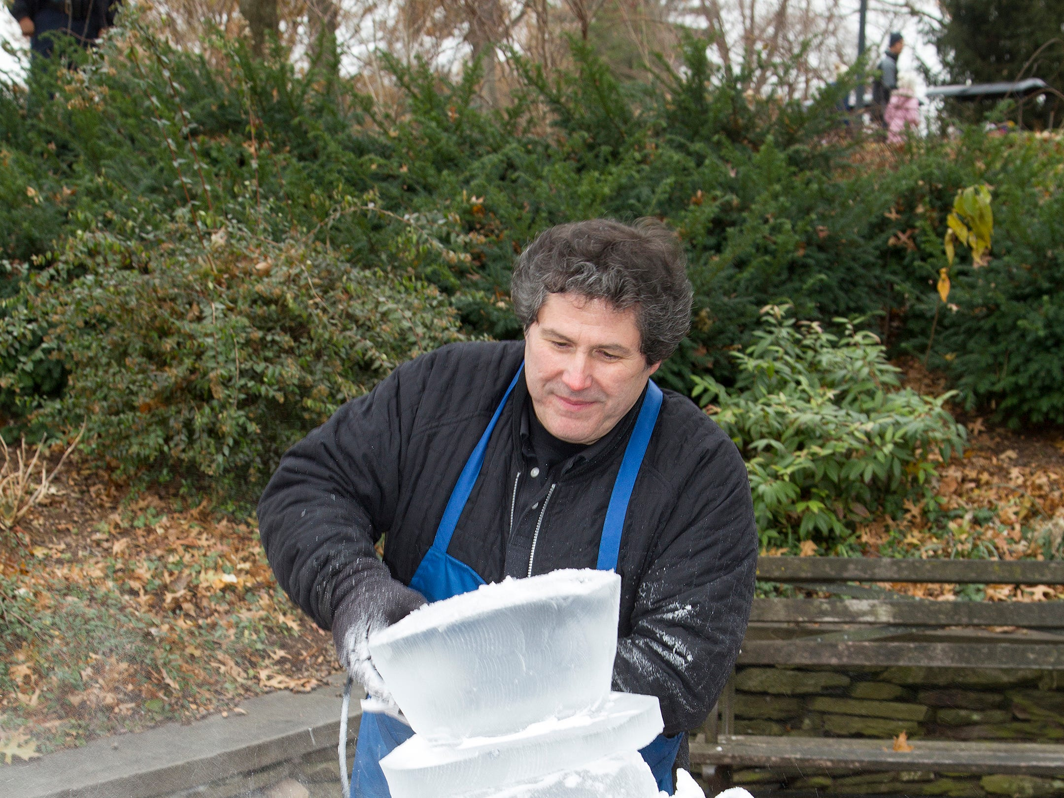 Ice Sculpting. The Ridgewood Guild sponsors Winter Fest at Van Neste Park in Ridgewood. 11/24/2018