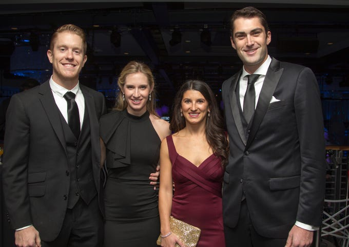 Lou and Stephanie Meindl, Michaelle and Scott Niewiadorski. Holy Name Medical Center held its 2018 Founders Ball in NYC at Ziegfeld Ballroom. 11/17/2018