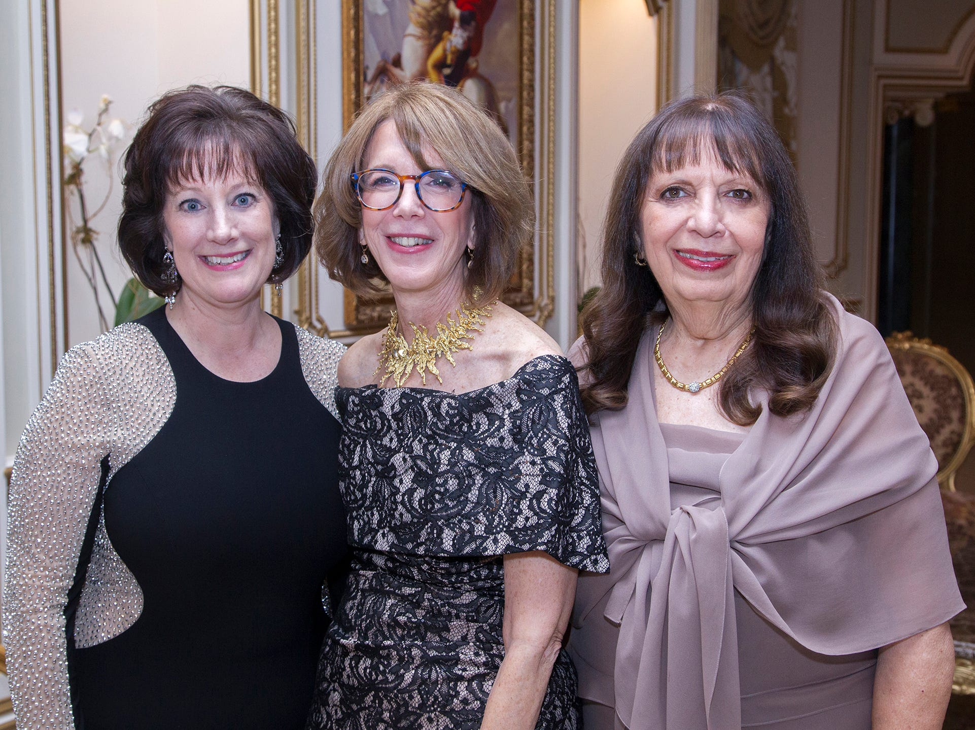 Chairwomen. Denise Downey, Elaine Heinberger, Carol Gillespie.The 72nd Annual Valley Ball gala at The Legacy Castle in Pompton Plains. 11/16/2018