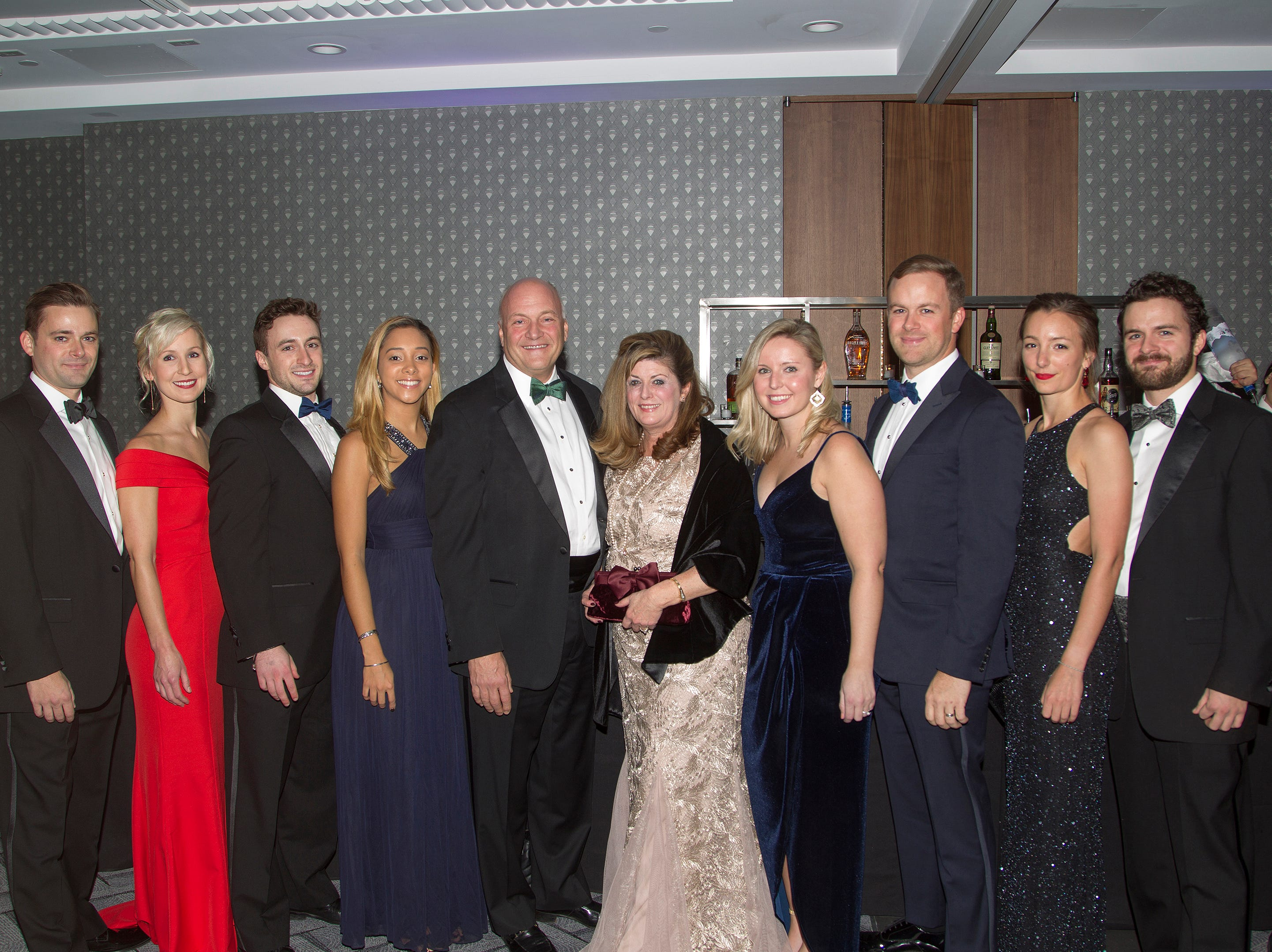 Brendan Maron, Shannon Krall, Patrick Maron, Stephanie Henry, Michael Maron, Diane Maron, Carley Maron, Michael Maron, Kyle Maron, and Kristina Kucerova. Holy Name Medical Center held its 2018 Founders Ball in NYC at Ziegfeld Ballroom. 11/17/2018