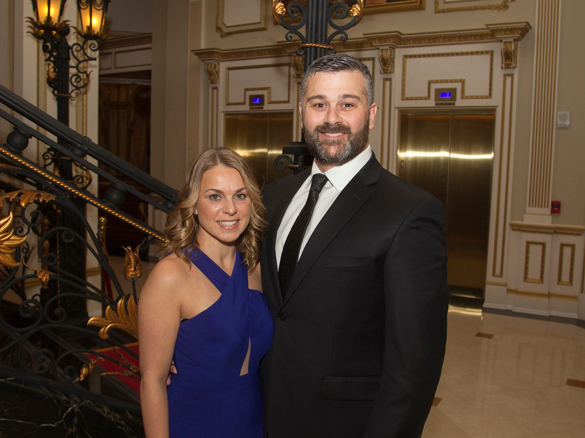 Leeah and Ryan Develez. The 72nd Annual Valley Ball gala at The Legacy Castle in Pompton Plains. 11/16/2018