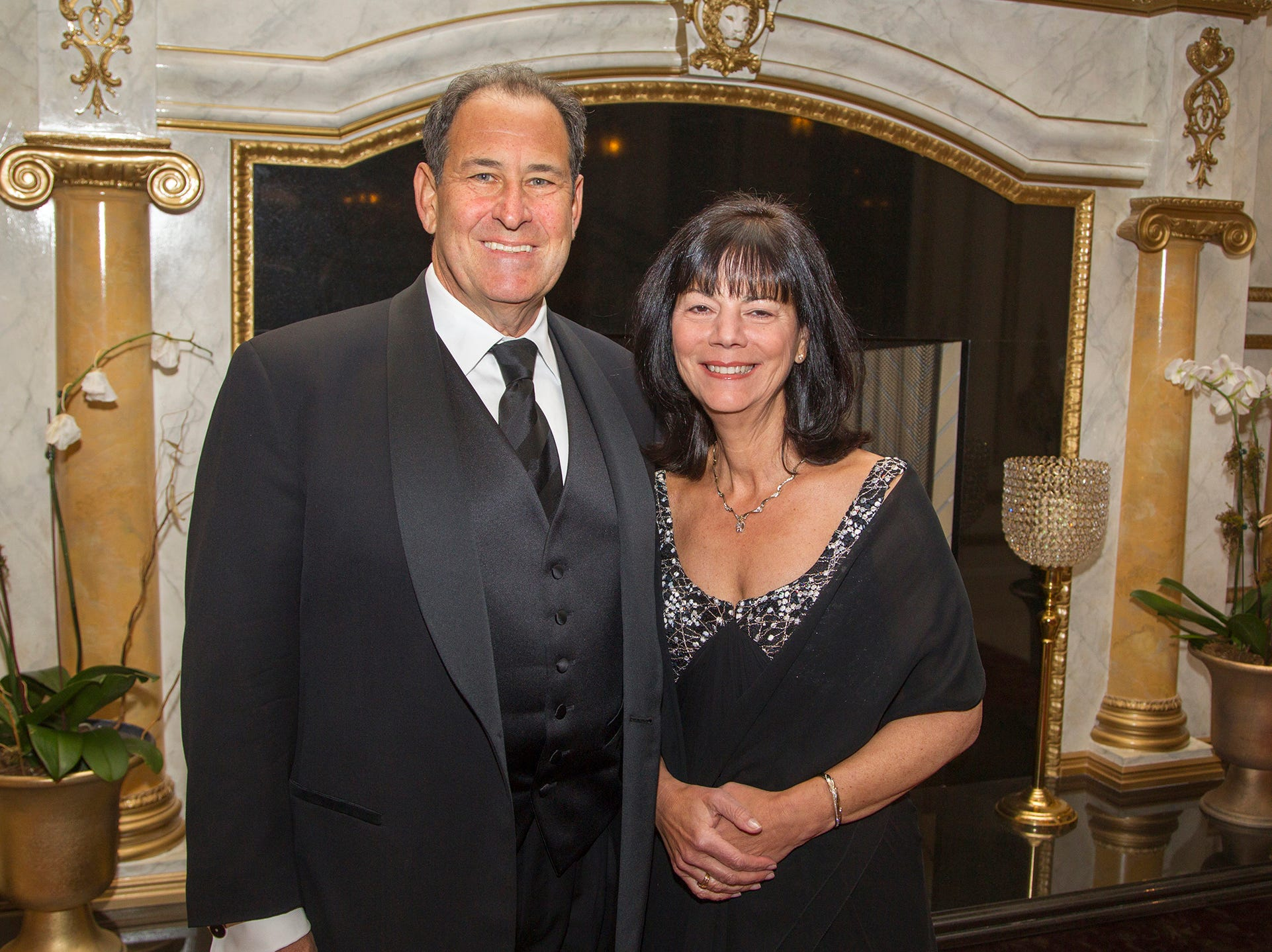 Dr. Scott W. Agins and Audrey Meyers, President and CEO of The Valley Hospital and Valley Health System. The 72nd Annual Valley Ball gala at The Legacy Castle in Pompton Plains. 11/16/2018