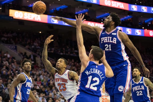 Nba New York Knicks At Philadelphia 76ers