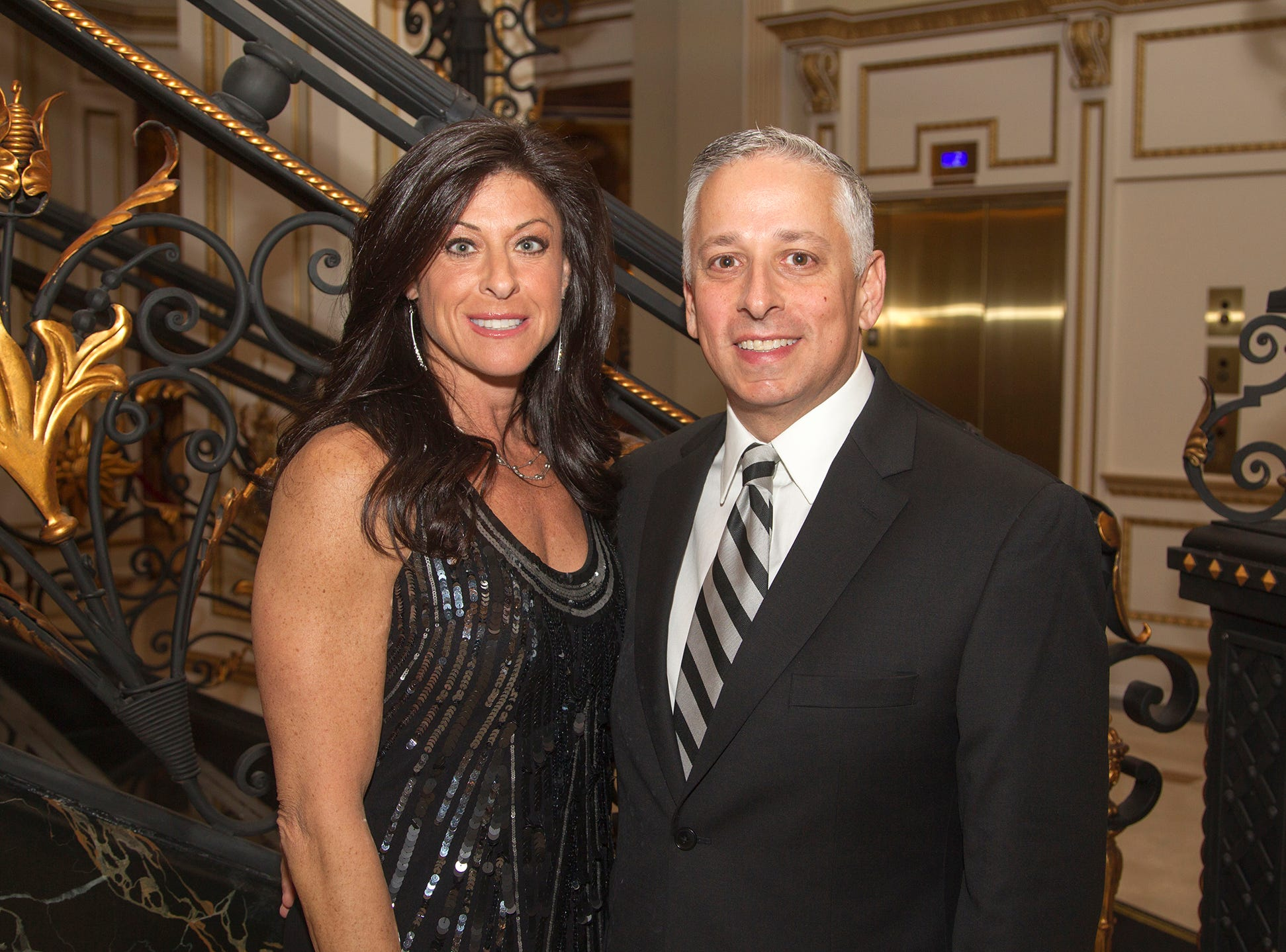 Allison and Todd Aronson. The 72nd Annual Valley Ball gala at The Legacy Castle in Pompton Plains. 11/16/2018