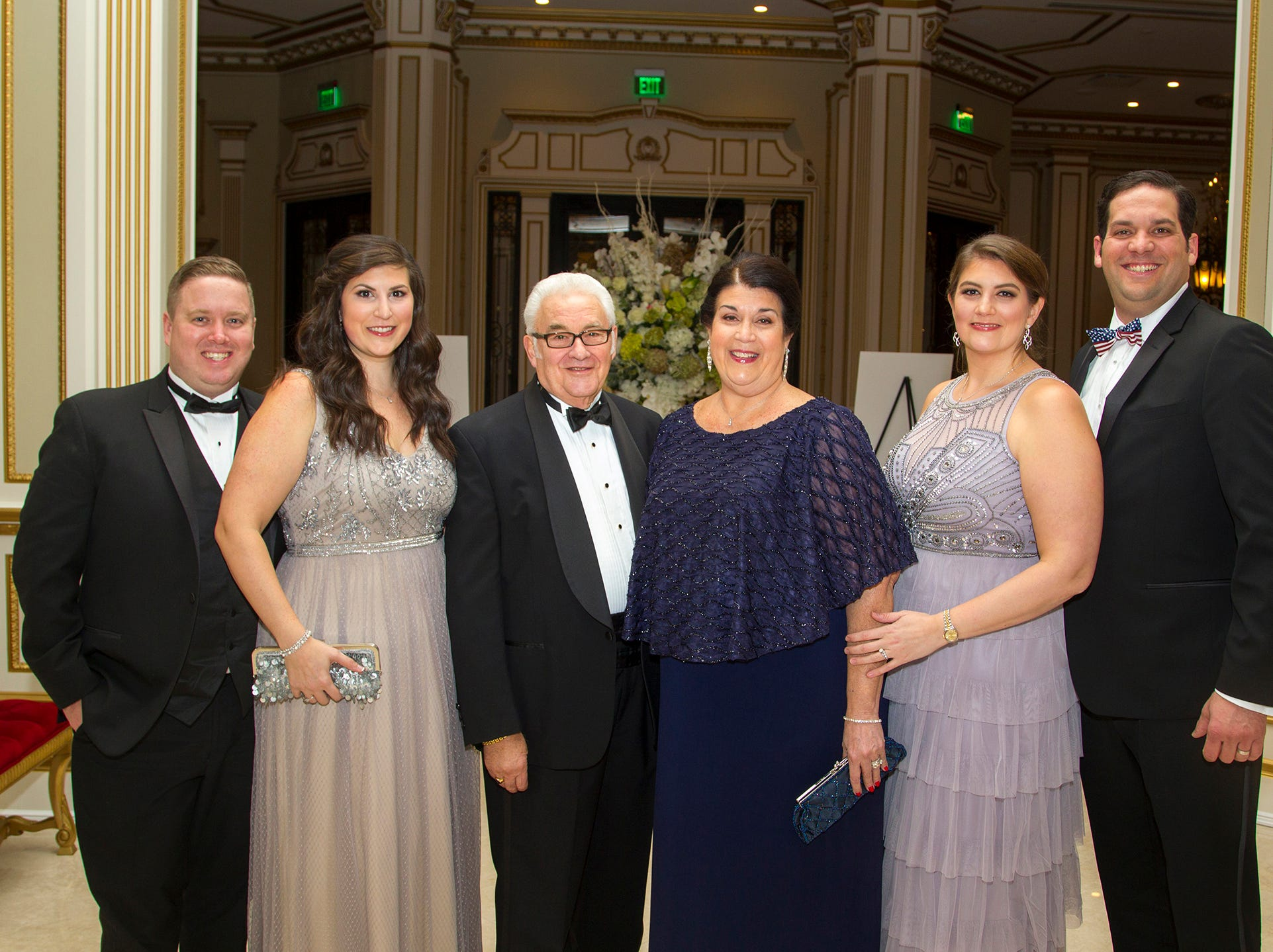 Jason and Gina Desch, Sandro and Maria Mediago, Alessandra and James Agnew. The 72nd Annual Valley Ball gala at The Legacy Castle in Pompton Plains. 11/16/2018