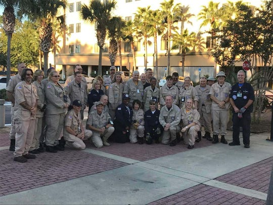 Team photo of DMAT members in Ft. Walton Beach, Florida.