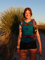 Ella Raff is attempting to become the first person to run the 328-mile Monumental Loop trail in southern New Mexico and West Texas.