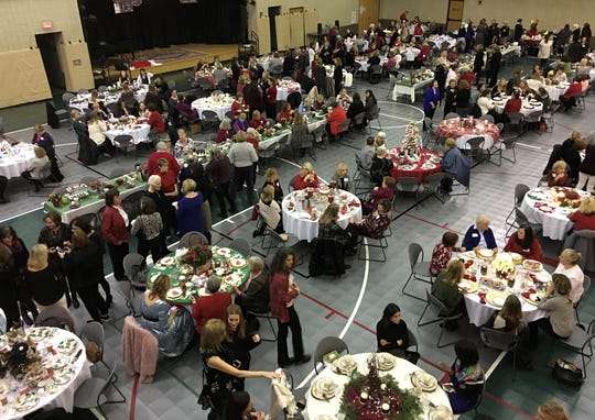 More than 400 guests enjoyed the fellowship and delicious desserts at the Advent by Candlelight event. The beautiful table settings added to their delight.