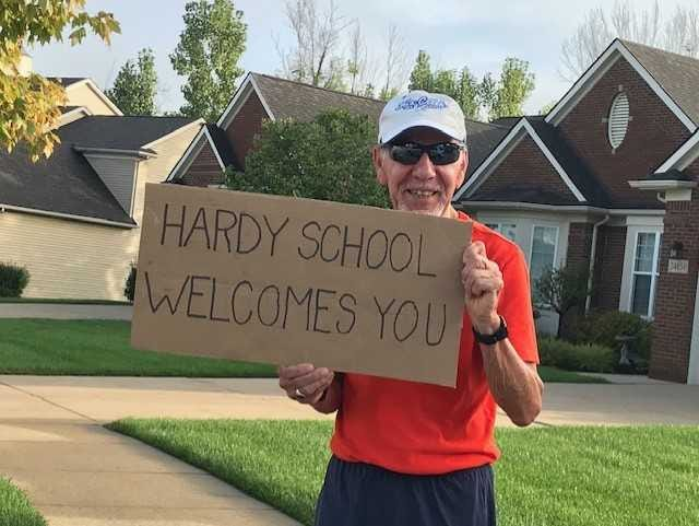 Anthony Aquino has become a kind-hearted fixture for students heading to Hardy Elementary School in South Lyon.