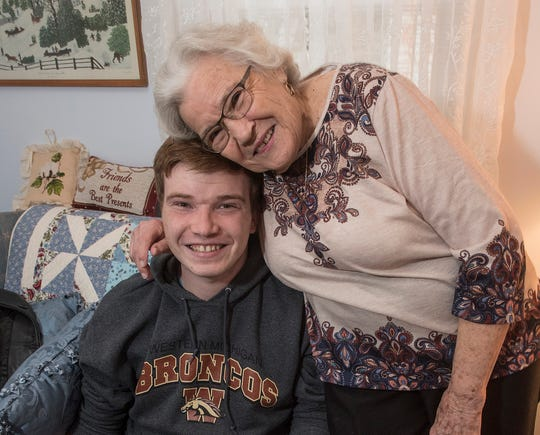 Grandson John Ellis, a recent graduate of Western Michigan University and his grandmother, Mildred Davis, were attending school at the same time.