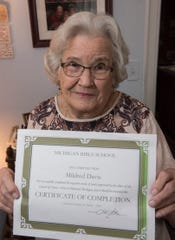 Mildred Davis is 85 years old and still learning.