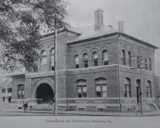 Photograph of the Post Office and Federal Court Building taken in 1901. The exterior has not been significantly altered over the years, and looks pretty much the same today as it did in 1901.