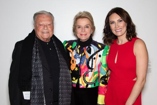 Silver Sponsors Harold Matzner, Donna MacMillan with Laura Benanti.