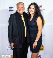 Longtime supporter and sponsor Harold Matzner and guest Delfina Zarate.