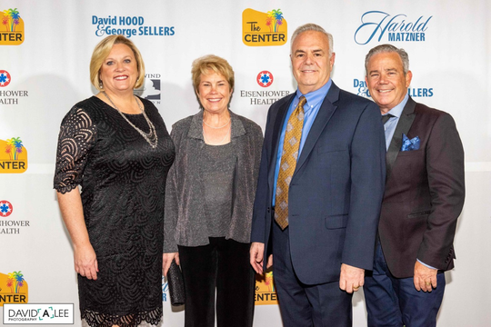 Representing the Presenting Sponsor Eisenhower Health, Wendy Beerbower and her wife Robin Behm, Marty Massiello and husband Jeff Weyant.