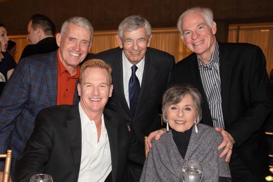 (l) Tom Truhe, Chuck Hasse, Stewart Boxer, Barbara Boxer and Bart Ketover.
