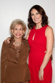 Presenting Diamond Sponsor Annette Bloch with Laura Benanti.