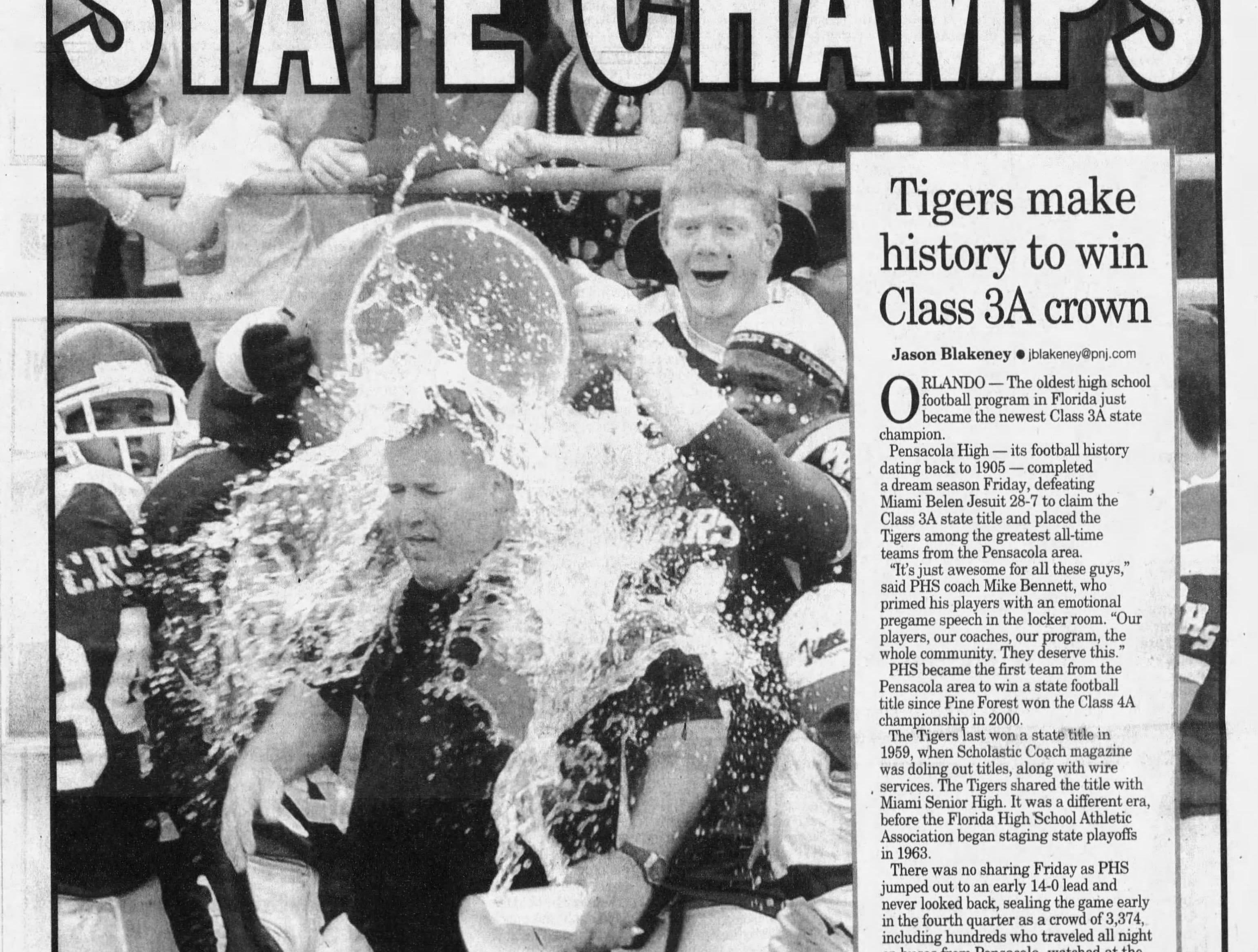 2009: Pensacola High defeats Miami Belen Jesuit, 28-7, for Class 3A title.