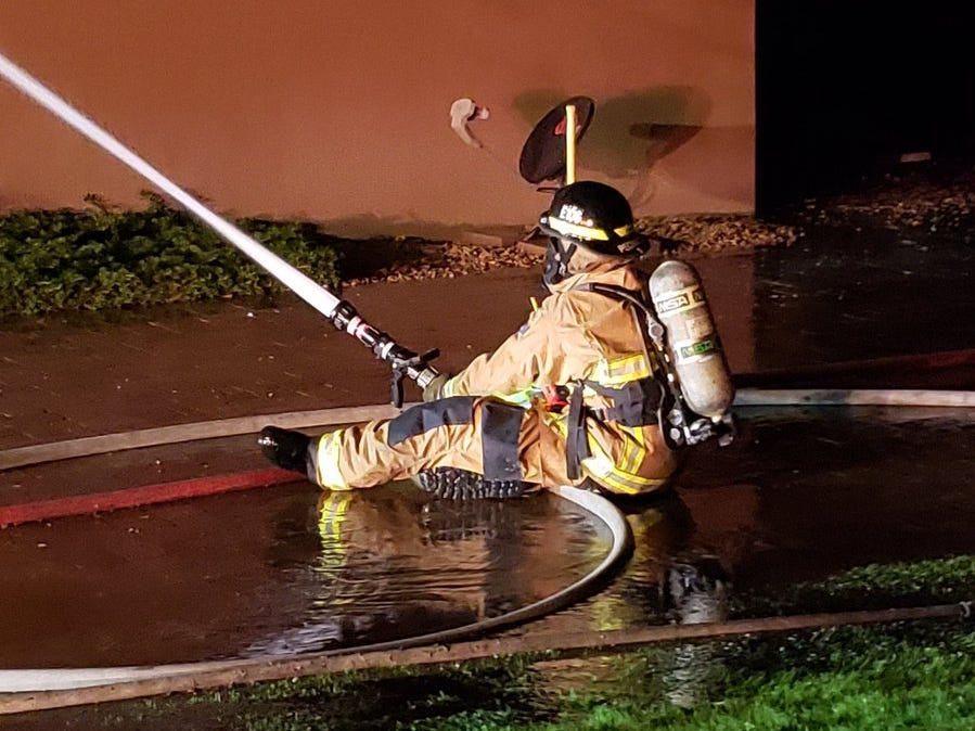 Arizona Fire and Medical Authority units were on the scene of the Chandler-area mansion fire, Nov. 29, 2018.
