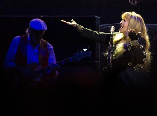 Stevie Nicks of Fleetwood Mac performs at Talking Stick Resort Arena in Phoenix on November 28, 2018.