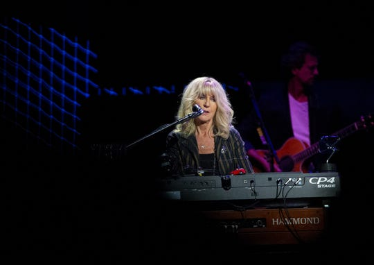 Christine McVie of Fleetwood Mac performs at Talking Stick Resort Arena in Phoenix on November 28, 2018.