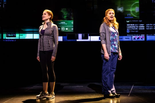 """Christiane Noll and Jessica Phillips as moms in distress in the national tour of """"Dear Evan Hansen."""""""