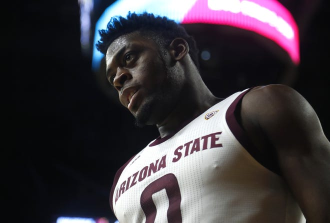 Arizona State's Luguentz Dort (0) is turning heads with his play early in the college basketball season.