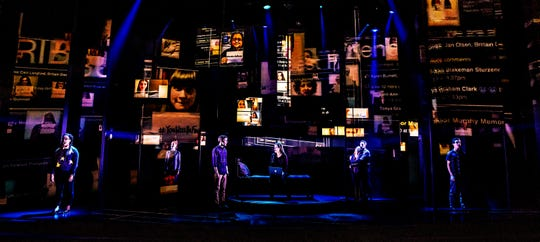 The Company of the First North American Tour of Dear Evan Hansen 2018.