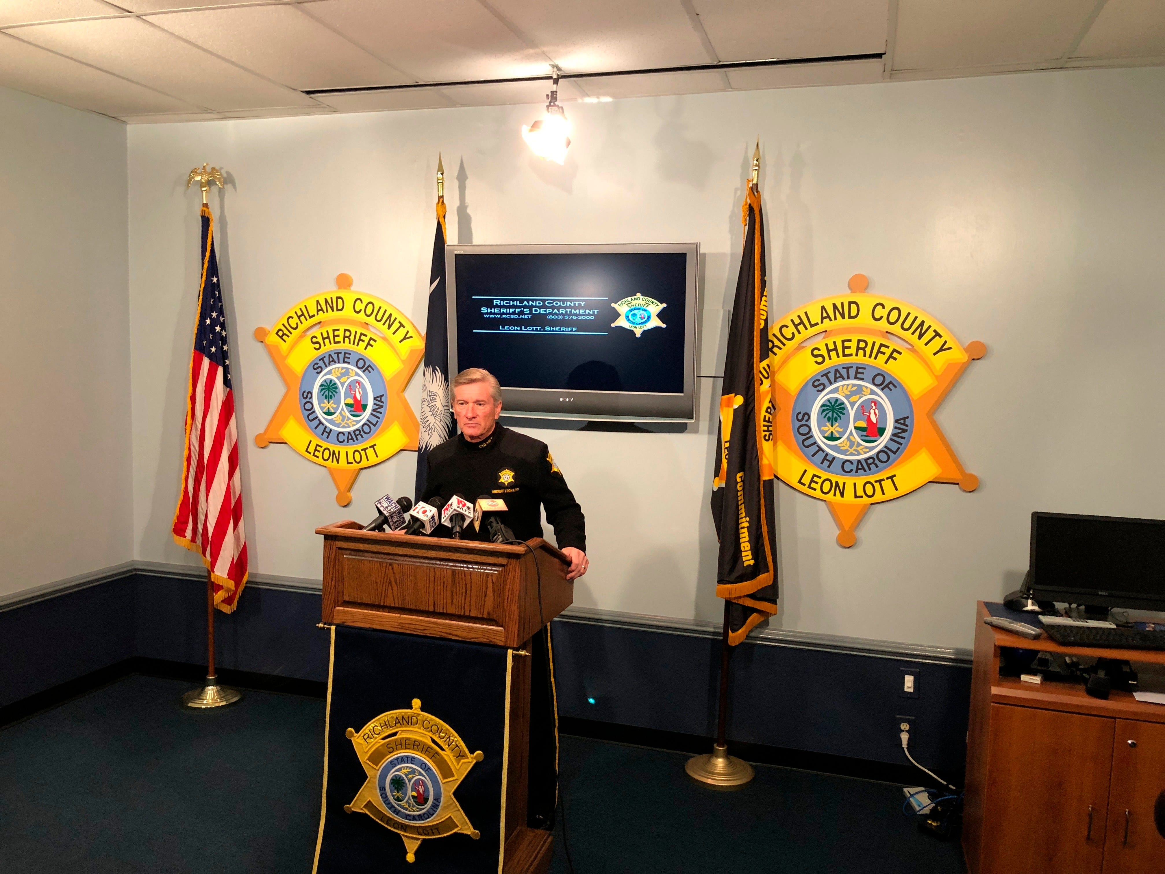 At a Nov. 21, 2018, news conference in Columbia, South Carolina, Richland County Sheriff Leon Lott talks to reporters about a 19-year-old woman killed in South Carolina in 1978. Her death who is likely linked to Samuel Little, a prisoner who told investigators he may have killed as many as 90 people across the United States.