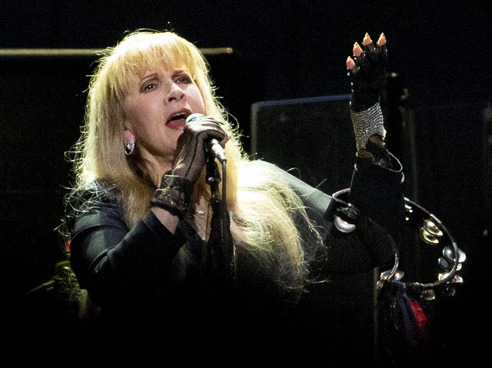 Stevie Nicks of Fleetwood Mac performs at Talking Stick Resort Arena in Phoenix on November 28, 2018.