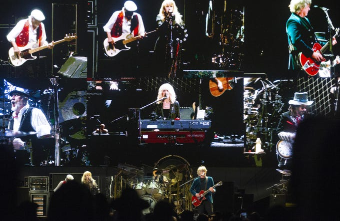 Fleetwood Mac performs at Talking Stick Resort Arena in Phoenix on November 28, 2018.