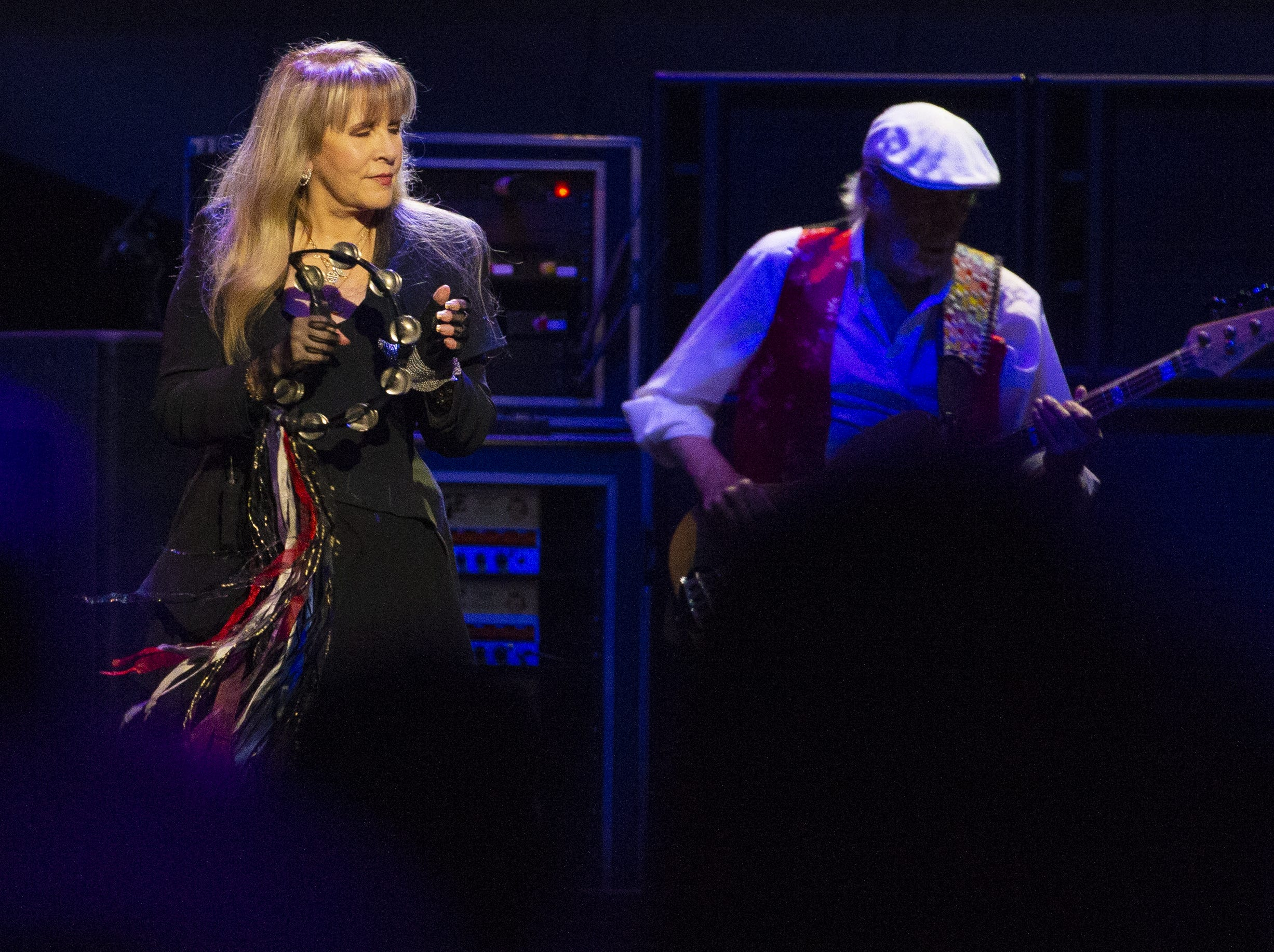 Stevie Nicks, and John McVie, of Fleetwood Mac perform at Talking Stick Resort Arena in Phoenix on November 28, 2018.
