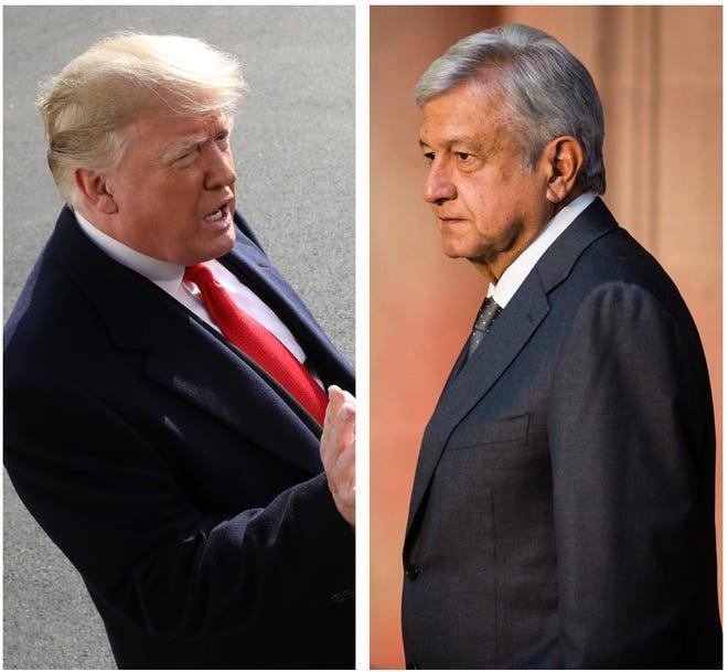 Donald Trump and Mexican PresidentAndrés Manuel López Obrador.