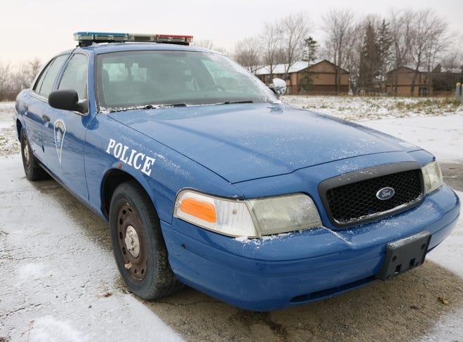 This 2004 Ford Crown Victoria cruiser is one of the Port Clinton Police Department's aging vehicles that needs to be replaced.
